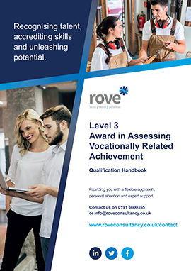 Level 3 Award in Assessing Vocationally Related Acheivement