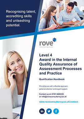 Level 4 Award in the Internal Quality Assurance of Assessment Processes and Practice