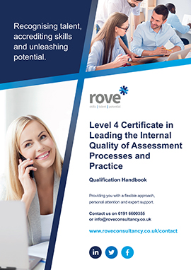 Level 4 Certificate in Leading the Internal Quality of Assessment Processes and Practice