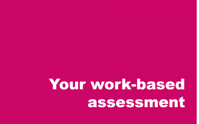 Understanding your work-based assessment