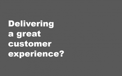 Delivering a Great Customer Experience?