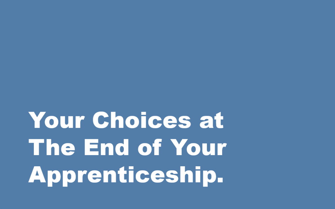 Your Choices at The End of Your Apprenticeship.