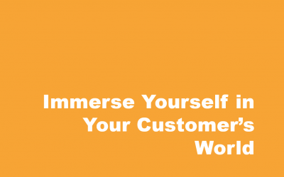 Have you Tried Immersing Yourself in Your Customer's World?