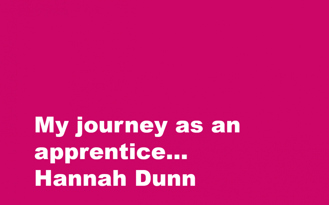 My journey as an apprentice… Hannah Dunn
