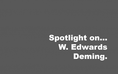 Spotlight on… W Edward Deming